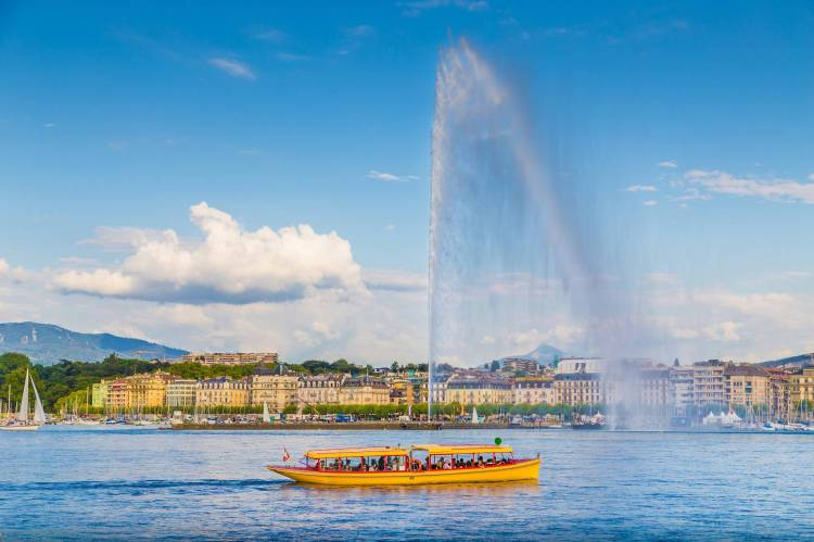 Geneva amazing Jet of Water