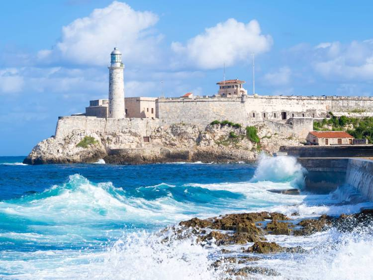 What a view! Havana Morro and the city Malecon seawall