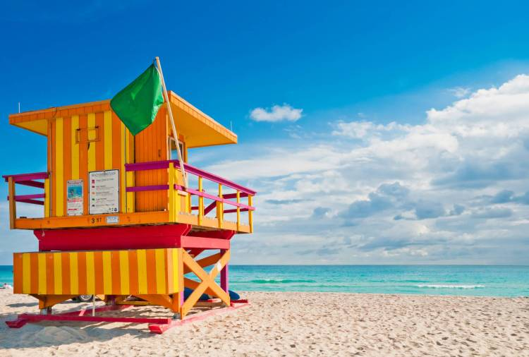 Another typical day at Miami Beach. Nice!